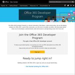 Free Microsoft Office365 for Developers for 1 Year
