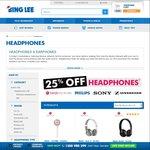 25% off Sony, Sennheiser, Philips & Beats Headphones @ Bing Lee