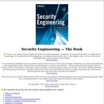 Free 1000 Page eBook: Security Engineering 2nd Edition (Normally $85)