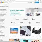 20% off Selected Tech Stores at eBay
