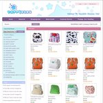 Bub Time Cloth Nappy Clearance Sale $5 + $7 Flat Postage for a MCN with Two Inserts @ Happybubs