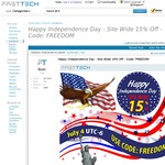 Independence Day Sale - 15% off Site Wide @ FastTech