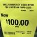 Ryobi ONE+ 18V Hammer Drill Kit with 6 Year Warranty $100 Was $249 at Bunnings Box Hill Victoria