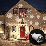 E27 4W LED Moving Four Kinds Snowflake Laser Projector Lamp Bulb $2.96 (~AU $3.91) + Free Shipping @ Banggood