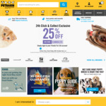 Petbarn Click & Collect Exclusive Offer, 25% off with Code