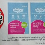 40% off Skype Gift Cards,  Optus Nokia 3310 $79 + 3000 Flybuys Points Worth $15 @ Coles
