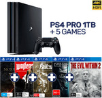 PlayStation 4 Pro 1TB + 5 Games (Wolfenstein 2, Evil Within 2, Fallout 4, Dishonored 2, Elder Scrolls Morrowind) $499 @ EB Games