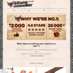 Black Friday Deals - 15% off: Beef Biltong Air-dried Jerky Sticks ~$61.19/Kg, Traditional Biltong $49.29/Kg (Shipping $10)