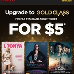 Upgrade to Gold Class for $5 (Cinebuzz Membership Required) @ Event Cinemas