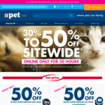 30% to 50% off Sitewide Online Only at PETstock