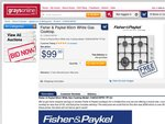White Gas Cooktop $99 Delivered, Fisher & Paykel, Graysonline