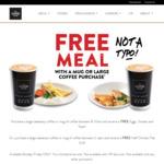 Buy a Large Takeaway Coffee or Mug of Coffee between 2-4pm, Mon-Fri & Receive a Free Half Chicken Flat Grill @ The Coffee Club