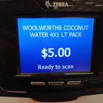 [QLD] 4x 1L Woolworth's Brand Coconut Water $5 @ Big W (Runaway Bay)