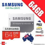 Samsung 64GB Evo+ Micro SD Card SDXC Class 10 100MB/s $17.95 Delivered @ ShoppingSquare