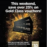 $30 Gold Class Vouchers @ Village Cinemas
