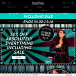 50% off Everything + 20% Cashback at Boohoo