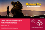 20% off Transformers Plus a Free Double Movie Pass, Poster & Twist Cube Keychain ($40 Min Spend) @ eBay Transformers Outlet