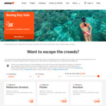 Jetstar Boxing Day: Melbourne to Launceston $41, Singapore $169, Sydney to Bali $199 One Way + More