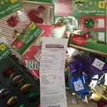 Christmas Cards (10 Pack), Metallic Bows/Ribbons, Foil Gift Labels/Tags $0.20 (Was $2 to $3) @ The Reject Shop