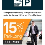 [QLD] 15% Off Parklong Parking @ Brisbane Airport