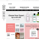 30% off COSRX (Ends 14/2) 30% off Secret Key (Ends 19/2) 20% off Innisfree 15% off Others (Ends 17/2) Free Shipping @Jolse.com