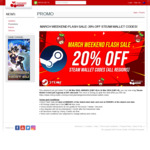 Flash Sale 20% of Steam Wallet Codes @ Cherry Credits