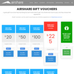 50% off AirShare Gift Cards - Flight Experiences on Helicopters, Planes, Skydiving and Hot Air Balloons