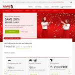 AAMI 20% off a Second Eligible Home or Car Policy