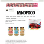 Win 1 of 5 Mayver's Peanut Butter Prize Packs from $56 from MiNDFOOD