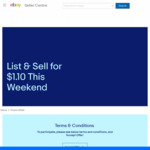 eBay - Weekends Only: Pay $1.10 When You Sell