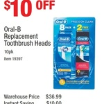 Oral-B Replacement Toothbrush Heads 8+2 Pack $26.99 (Was $36.99) @ Costco