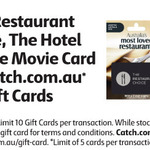 20% off Gift Cards: The Restaurant Choice, The Movie Card (Independent Cinemas), The Hotel Card @ Coles