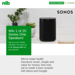 Win 1 of 20 Sonos One Speakers Worth $299 from NIB