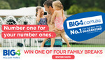 Win 1 of 4 BIG4 Holiday Park 2N Vouchers from Caravanning with Kids