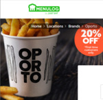20% off Oporto (First Time Customers) @ Menulog (Pick up / Delivery)