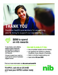$250 eGift Card for AHPRA-Registered Frontline Hospital Members (Doctor/Nurse/Paramedic/Midwife) @ NIB [Members Only]