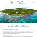 Win a Trip to Swell Lodge on Christmas Island for 2 Worth $2,500 from Christmas Island Tourism
