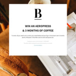 Win an Aeropress & 3-Month Supply of Roasters Pick Filter Coffee from Blackboard Coffee