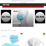 Disposable KN95 Mask - $14.24 (5 Pack), $47.49 (20 Pack) - Free Shipping for Orders above $49.90 - @Lifepub