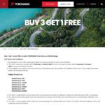 Buy 3 Get 1 Free on Selected Tyres @ Yokohama
