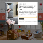 20% off All Furniture and 25% off Everything Else @ West Elm