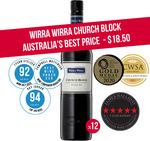Wirra Wirra Church Block 12 Bottles $222 + Shipping ($18.50/Bottle) @ Winenutt