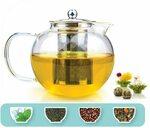 TETWIN 1500ml Glass Teapot w Stainless Steel Infuser, Stovetop Safe + Bonus Tea $22.99 Delivered @ TETWIN via Amazon AU