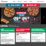 1 Traditional Pizza, Garlic Bread and Drink from $14.95 Pickup @ Domino's Pizza