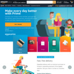 Amazon Prime AU $6.99/Month: Free Domestic Delivery (No Minimum Spend), 15% off Baby Items with Subscribe & Save
