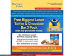 Free Biggest Loser Toffee & Chocolate Bar 3 Pack with any order