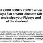 2000 Flybuys Points (Worth $10) With $50 Ultimate Teen/Kids/Student/Him/Her Gift Cards (JB Hi-Fi / EB Games) @ Coles