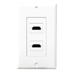 Dual HDMI Wallplate RRP $69.95 FREE with Free Delivery Australia Wide $0.00, Friday (50 only)
