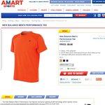New Balance Orange Men's Shirt - $5 - Free Delivery - Amart Sports