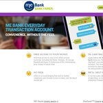 ME Bank EveryDay Transaction Account - 5% PayPass Cashback Offer for 6 Months